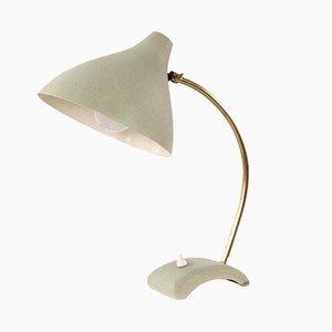 Lampada da tavolo in ottone e metallo, anni '50