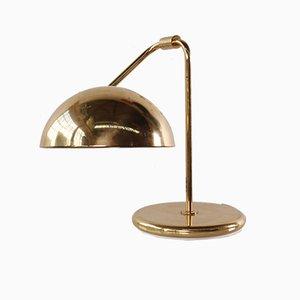 Lámpara de mesa alemana vintage de latón de Temde, años 70