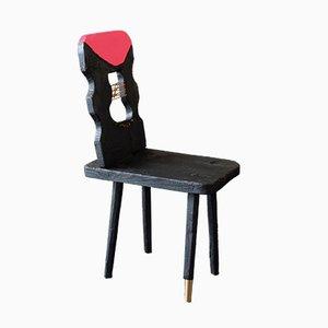 Brutalist Spruce Side Chair by Markus Friedrich Staab, 2019