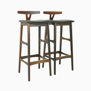 Rosewood Bar Stools by Erik Buch for Dyrlund, 1950s, Set of 2