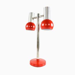 Lampe de Bureau Vintage Moderniste en Aluminium, Allemagne, 1970s