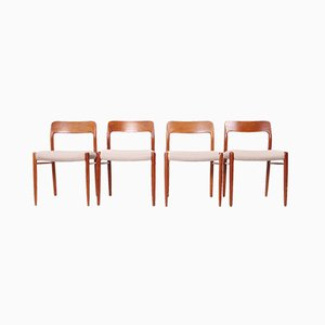 Scandinavian Modern Danish Teak Dining Chairs by Niels Otto Møller for J.L. Møllers, 1960s, Set of 4