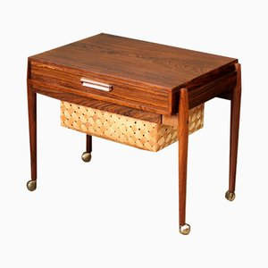 Mid-Century Rosewood Sewing Table, 1960s