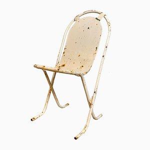Mid-Century Stuhl mit Gestell aus Schmiedeeisen, 1950er