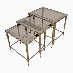 Tavolini ad incastro modernisti di Maison Jansen, Francia, anni '70