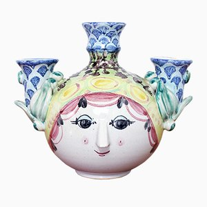 Candelabro vintage de cerámica de Björn Wiinblad, años 70