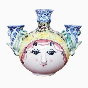 Vintage Kerzenhalter aus Keramik von Björn Wiinblad, 1970er