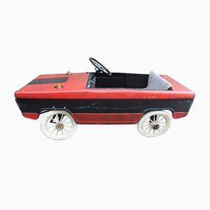 Vintage Black and Red Toy Car, 1950s
