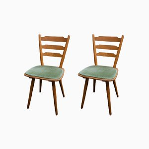 Scandinavian Modern Beech Dining Chairs, 1960s, Set of 2
