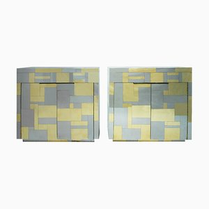 Mid-Century Modern American PE 200 Cityscape Sideboards by Paul Evans for Directional, 1970s, Set of 2
