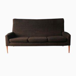 Mid-Century 3-Sitzer Sofa mit Stoffbezug & Gestell aus Buche, 1960er