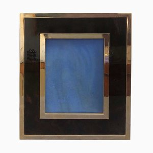 Italian Modern Brass and Lucite Photo Frame by Gabriella Crespi, 1960