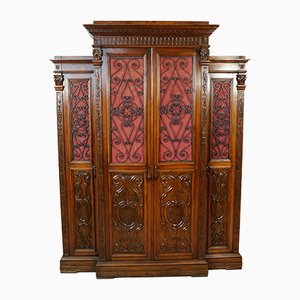 Antique Italian Walnut and Veneer Cabinet