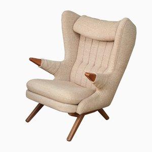 Vintage Sessel mit Wollbezug & Gestell aus Teak von Svend Skipper, 1960er