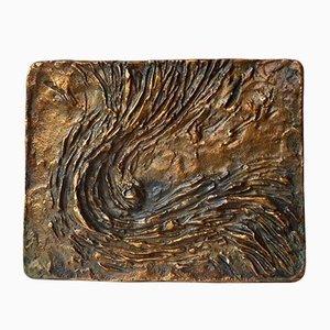 Türdrücker aus Bronze mit Relief