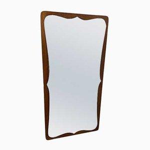 Vintage Scandinavian Modern Danish Teak Mirror, 1960s