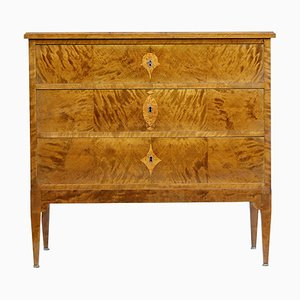 Antique Art Nouveau Birch Chest of Drawers