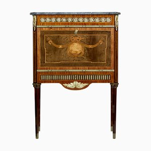 Vintage Swedish Inlaid Marble Top Secretaire, 1930s