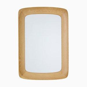 Mid-Century Oak Framed Mirror, 1960s