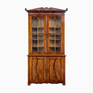 Antique Mahogany Bookcase, 1800s