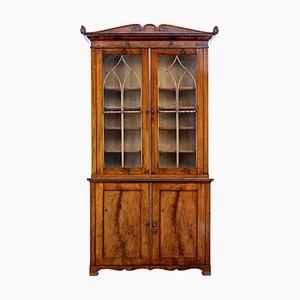 Librería antigua de caoba, década de 1800
