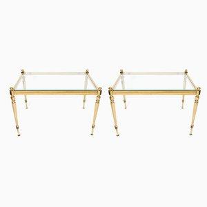 Vintage Brass Side Tables, 1970s, Set of 2