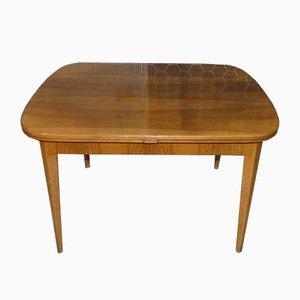 Mesa de comedor extensible Mid-Century de madera, años 50
