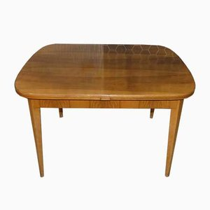 Mid-Century Wooden Extendable Dining Table, 1950s
