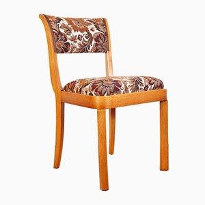 Sedie da pranzo Art Deco impiallacciate in legno di noce, anni '20, set di 4