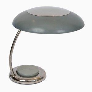 Bauhaus Schreibtischlampen aus vernickeltem Metall, 1950er, 2er Set