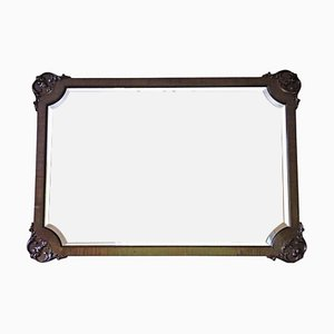 Antique Mahogany Overmantle or Wall Mirror, 1910s