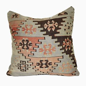 Turkish Embroidered Kilim Pillow Cover from Vintage Pillow Store Contemporary