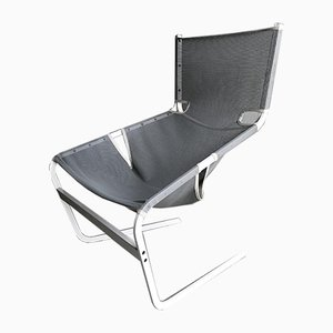 Model F444 Steel and Canvas Armchair by Pierre Paulin for Artifort, 1980s