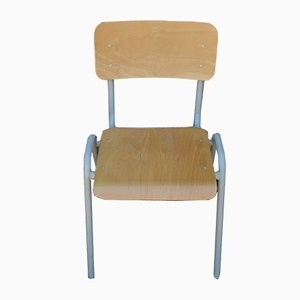 Industrielle französische Stühle, 1970er, 6er Set