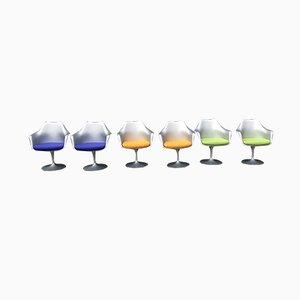 Chaises Pivotantes Tulipe par Eero Saarinen pour Knoll, 2008, Set de 6