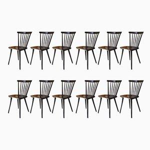 Fannett Stühle von Ilmari Tapiovaara, 1960er, 12 er Set