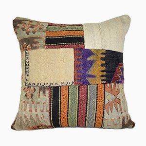 Quadratischer Patchwork Kelim Kissenbezug von Vintage Pillow Store Contemporary