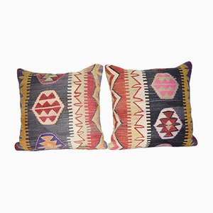 Bohemian Tribal Pillow Covers from Vintage Pillow Store Contemporary, Set of 2