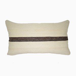 Funda de cojín lumbar a rayas hecha con kilim de Vintage Pillow Store Contemporary