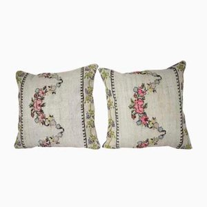 Handwoven Floral Pattern Kilim Pillow Cover from Vintage Pillow Store Contemporary