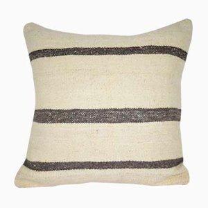 Funda de cojín a rayas de cáñamo hecha con kilim de Vintage Pillow Store Contemporary