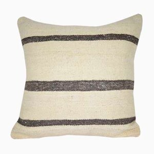 Striped Hemp Kilim Pillow Cover from Vintage Pillow Store Contemporary