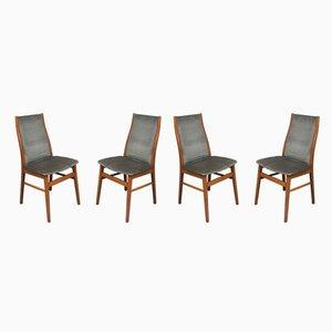 Chaises de Salon Vintage en Hêtre, 1970s, Set de 4