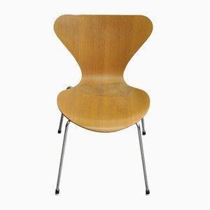 Sedia nr. 3107 Mid-Century di Arne Jacobsen per Fritz Hansen, anni '80