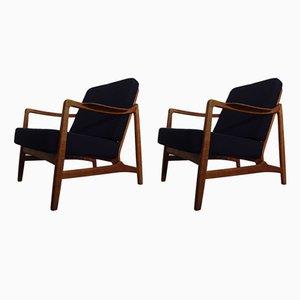 Chaises Modèle 117 en Teck et Chêne par Tove & Edvard Kindt-Larsen pour France & Daverkosen, 1960s, Set de 2