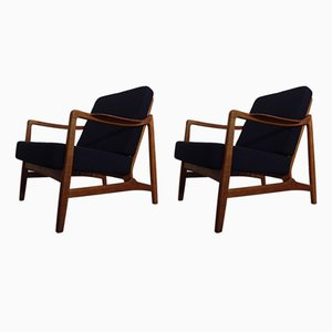 Model 117 Teak & Oak Chairs by Tove & Edvard Kindt-Larsen for France & Daverkosen, 1960s, Set of 2