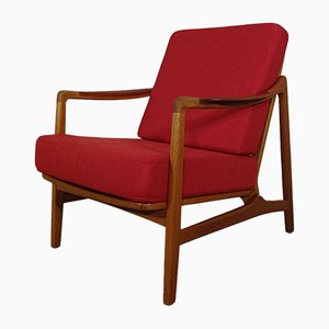 Model 117 Teak & Oak Chair by Tove & Edvard Kindt-Larsen for France & Daverkosen, 1960s