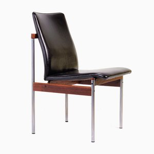 Model Thereca Rosewood, Metal, and Leather Dining Chair from Fristho, 1960s