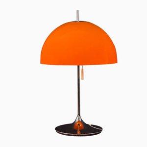 Orangefarbene Space Age Tischlampe, 1960er