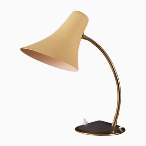 Mid-Century Brass and Lacquer Desk Lamp, 1950s